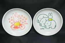 NEW Miffy Oblong Dish Cake Dessert Plate Set 2 Tableware From JAPAN **A861