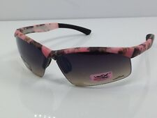 Pink Camouflage Sunglasses Rimless Brown Lenses Vertex