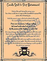 Banish End Harrasment Spell 1pg Parch fr Wicca Pagan Book of Shadows Rituals