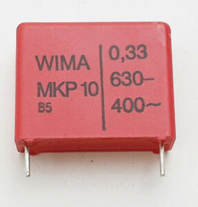 WIMA MKP 10 Capacitor 0,33uF 0.33uF 330nF 630V  R22,5