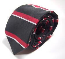 0d365e4578f0 Old Navy Black Red White Horizontal Striped Boys Necktie Tie 53