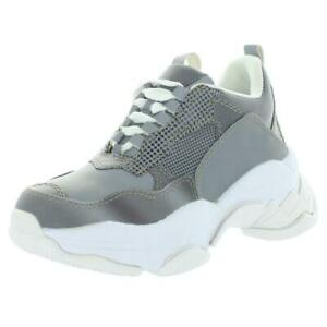 Jeffrey Campbell Womens Lo-Fi Gray Dad Sneakers Shoes 6.5 Medium (B,M) BHFO 7187