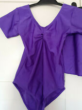 GIRLS PURPLE LEOTARD AND SKIRT FROM ROCH VALLEY DANCEWEAR SIZE MEDIUM