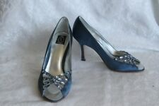 Xiomara Crystal Party Shoes, Upper(Satin and Genuine Leather), Leather Sole