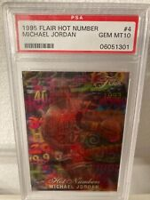 1995 FLAIR HOT NUMBERS Michael Jordan #4 PSA 10 (GREAT INVESTMENT)