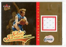 1X CHRIS KAMAN 2004 05 Fleer Ultra #SCCK Season Crown Gold JERSEY RELIC #d 84/99