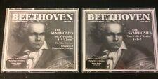 """BEETHOVEN- 6 CDs 2 Box Sets """"The Symphonies"""" Vol. #1 & #2, Nos.1•2•3•4•5•6•7•8•9"""
