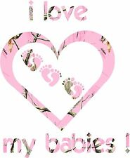 P Camo Heart , Will do your family ,message me , color of heart and babies Decal
