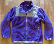 Girls The North Face Denali Full Zip Sz L 14/16 Jacket Purple Fleece Thermal