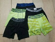 5 LOT Men's Nike Pro Combat Under Armour Lightweight Compression Shorts Sz Large