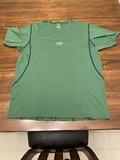 Arcteryx Running Hiking Dry Fit Short Sleeve Shirt Perfect Mens Medium Green