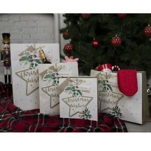 Christmas Wish Gift Bag Silver Perfume,Medium,Large,Shopper,Extra Large
