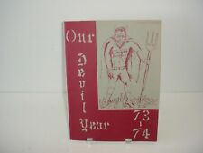 West Side Junior High Yearbook Our Devil Year 1973 to 1974
