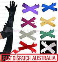 Evening Formal Wedding Stretch Satin Gloves Wrist Below Over Elbow  Shoulder Lth