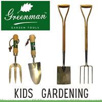 Childrens Gardening Tools Kids Set Kids Garden Childs Greenman Spade Fork Trowel
