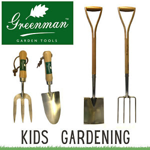 Childrens Gardening Tools Kids Set Kids Garden Childs Greenman Spade Fork Trowel