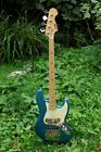 Indie 4 String Jazz Bass Guitar  2010 ~ Mint ~ Blue Sparkle  for sale