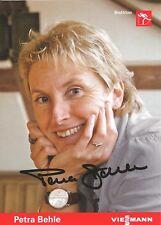 Autogramm Petra Behle Biathlon Olympiasiegerin 98, Silber 92+94 handsigniert PO*