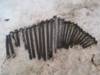 1989-1996 SUZUKI GS500 GS 500 OEM complete crankcase bolt set