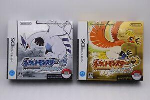 Nintendo DS Pocket Monster Heart Gold & Soul Silver 2pcs w/Poke walker Japan NDS