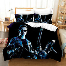 The Terminator 3D Design Bedding Set 3PC Of Duvet Cover Pillowcase Double King@