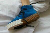 Adidas X Alexander Wang AW Skate Mid Size 8 Bluebird Gum AC6849 Blue Suede