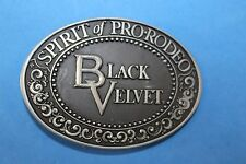 Lk10136 Vintage 1970s *Black Velvet* Spirit Of Pro-Rodeo Belt Buckle
