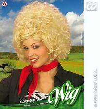 Blonde Curly Afro Wig Dolly Parton Country And Western Singer Fancy Dress