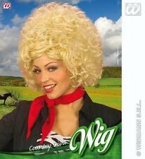 Perruque Afro Bouclés Blonde Dolly Parton country western chanteur robe fantaisie