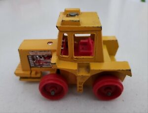 Vintage Lesney 1972 Matchbox Super Kings K5 Muir-Hill Tractor Yellow Diecast Toy