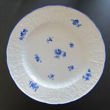 Jugendstil Teller Meissen um 1900 mit blauen Streublumen - K4-2771/104