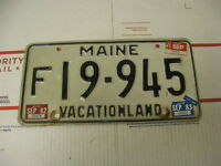 1982 82 1983 83 1984 84 Maine ME License Plate F19945 Vacationland