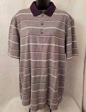 Lands' End Men's Blue/Red/White Striped Polo Shirt Size XL (46/48)