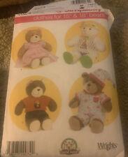 "Simplicity Doll Clothes Dress Pajamas Pattern 4624 Size 15"" 18"" Cut"