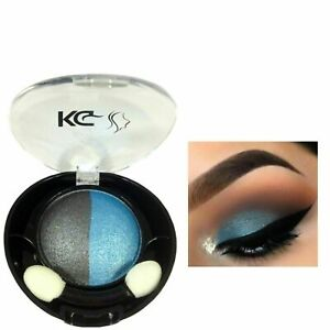 KG DUO HIGHLY PIGMENTED EYESHADOW 030 SMOKY BLACK/BLUE & FREE COMPACT MIRROR x 1