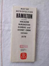 MAP OF METROPOLITAN HAMILTON CANADA 1979 A.E. LEPAGE REAL ESTATE ADVERTISING