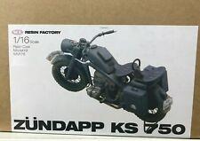 SOL German WW2 Motorcycle 1/16 Zundapp KS-750 Detailed Resin Model Kit MM176 NEW