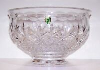 """STUNNING SIGNED WATERFORD CRYSTAL KILLARNEY 10"""" FOOTED BOWL WITH LABEL"""