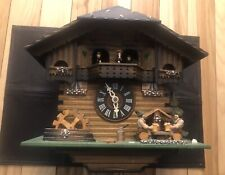Black Forest Cuckoo Clock Beautiful Animated Dancers, Beer Drinkers, Water Wheel