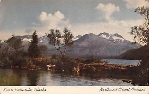 Kenai Peninsula Alaska~Russian Lake and River~Northwest Orient Airlines Ad 1950s
