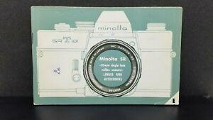 ORIGINAL Minolta SRT-101 camera Owner's Operating Manual Instructions guidebook