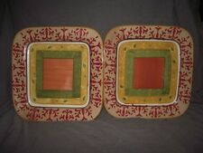 Set of 2 Home (Target) American Simplicity Villa Square Dinner Plates