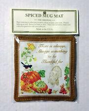 New listing Alice'S Cottage Scented Spiced Mug Mat Coaster Thankful, Nip