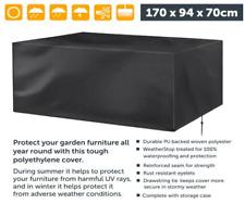 New Black Waterproof Large Table Cover Outdoor Rattan Garden Patio Furniture
