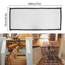 Pet Dog Gate Guard Folding Baby Stair Isolation Safety Barrier Mesh Enclosure