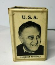 More details for wwii usa president roosevelt british lend lease propaganda matchbox cover