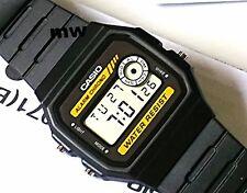 New Casio F-94WA-9 Classic Vintage Stopwatch Alarm Men's Kids Watch Black F-94