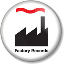 "Factory Records Hacienda 1"" 25mm Pin Button Badge Manchester Club Label 1980s 1"