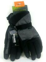 New Tek Gear Mens Ski Gloves Warm Waterproof 3M Thinsulate M/L Black- Gray