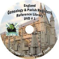 326 books ENGLAND Genealogy Parish Registers History on 3 DVDs
